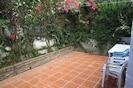 Private patio garden