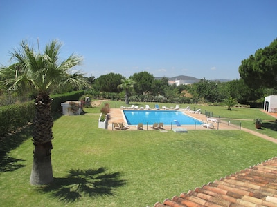 View of pool from roof of Villa 1