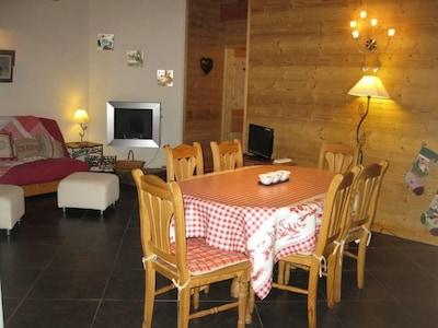 Appartement de 70 m2 dans chalet avec jacuzzi