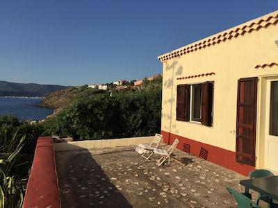 Plage de la marina de Bosa, Bosa, Sardaigne, Italie
