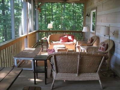 Relaxing screened porch!