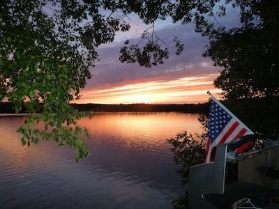 Beautiful sunset on South Pond