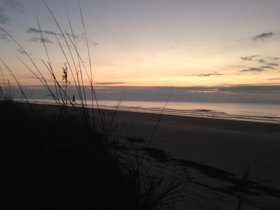 Sunset bliss on our uncrowded beach...