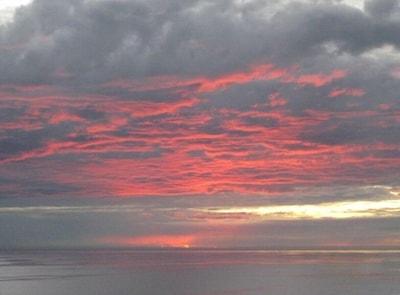 Ocean Front Veranda Sunset