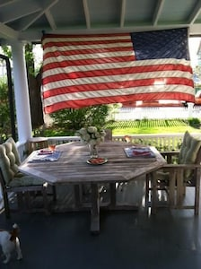 Great wrap around patio with nice breezes and sunset views.