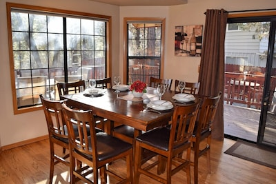 The Diningroom with seats for 8.