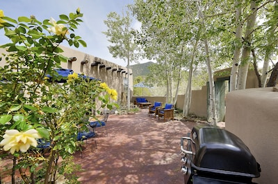 Main enclosed courtyard - adjacent to kitchen, living room and den.