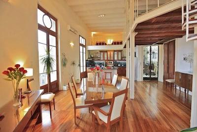 Great Room: Open Design, Lots Of Light, Beautiful Wood Floor