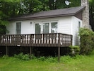 Blue Jay cottage with outdoor deck.