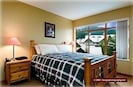 Main Bedroom - wake up to a view of Whistler mountain. LCD TV / DVD in bedroom