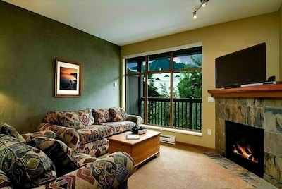 Relax in front of the fire. We provide cable TV and a selection of Games & DVD's