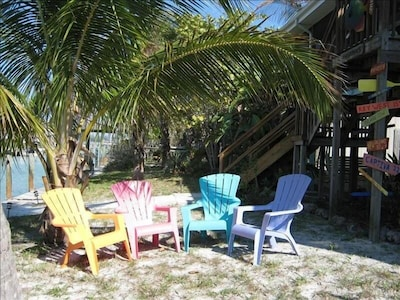 You can relax by the water right at the cottage!
