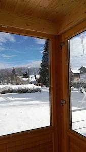 Une vue depuis le salon