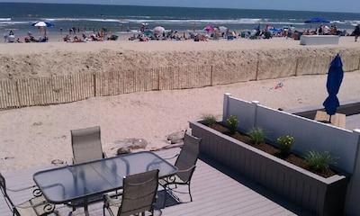 Beach level deck