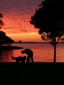 Sunset park 50 yds. away