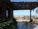 Lower patio with ocean view