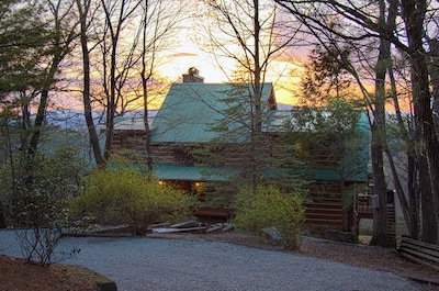 Front of house at Sunset