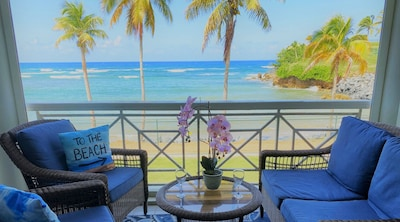 True Oceanfront Living!   Located on the beach