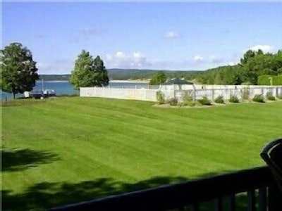 View of Pool and Lake from Deck