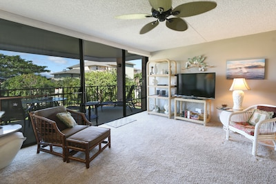 Enjoy cable and Netflix in the spacious living room