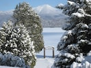 WINTER VIEW FROM CONDO, WHITEFACE MT. ACROSS THE LAKE