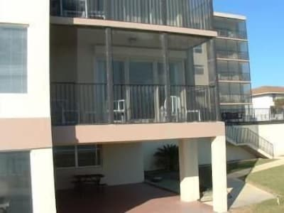 Condo,   just 1 set of stairs down to pool, sun deck, then ocean.