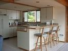 full kitchen overlooking Puget Sound