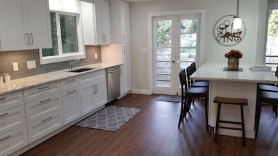Completely remodeled kitchen. Marble counter tops. Large eat in island.