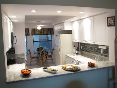 Remodeled kitchen: Custom cabinetry &stainless steel range; Great 4 entertaining