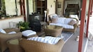 outdoor seating and tv for your enjoyment