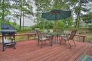Deck with Umbrella Table and Propane Grill