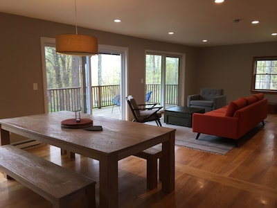 dining/living area/deck