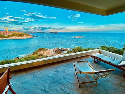Enjoy the afternoon ocean views from the deck.