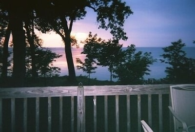 Back Deck view of Lake & Sunset