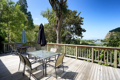 Sea views from the deck