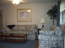 Livingroom for a nice visit with family and friends.