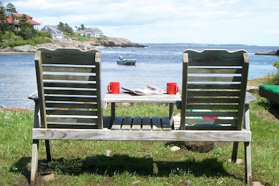 Walk to Little Harbor and enjoy the morning with coffee and newspaper
