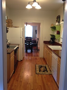 Kitchen to front of house