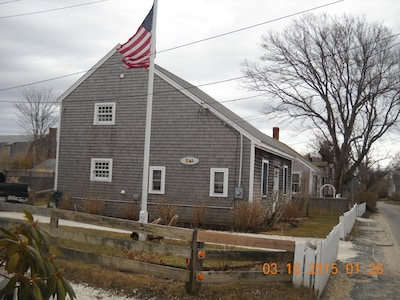 SIDE VIEW OF SALTBOX (to show height)