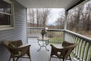 Our front porch, with the Harlem Valley below us...