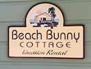 Beach Bunny Cottage sign on front of Cottage
