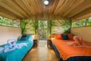 Villa Toucan with mural integrated into the surrounding nature. Cross breeze :-)
