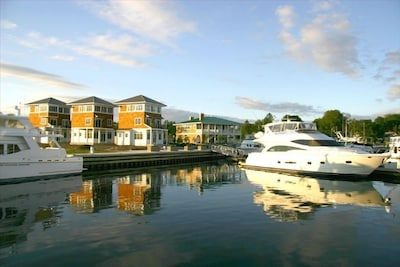 Marina Cottages from the harbor