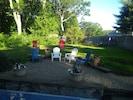 New seating area & yard