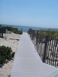 Follow this boardwalk to the beach! :)