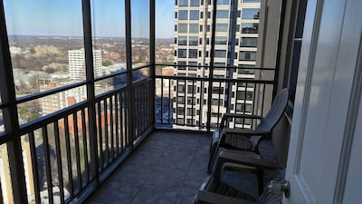Relax in Balcony from 23rd floor and relax with cool breeze.