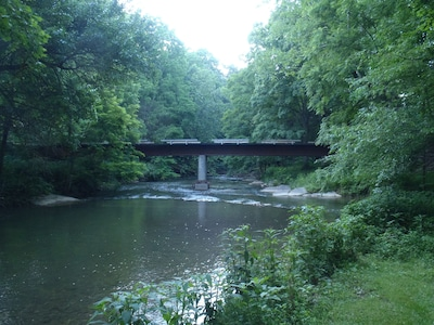 The only drivable access to The Glade is across Reed Creek on our private bridge