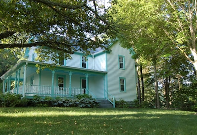 The original Victorian farmhouse was built in 1910 and is completely updated.