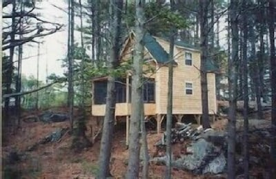 Cottage, taken from the water side just after it was built