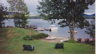 Burke's Cottages Beach, Swim Float & Boat Dock